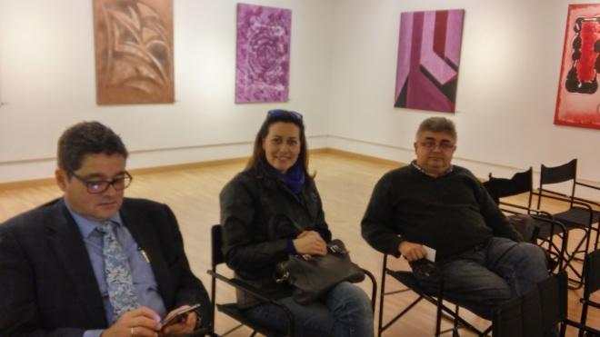 Anxo Álvarez (artista), Patricia Plaza, Ramón Loureiro (escritor)